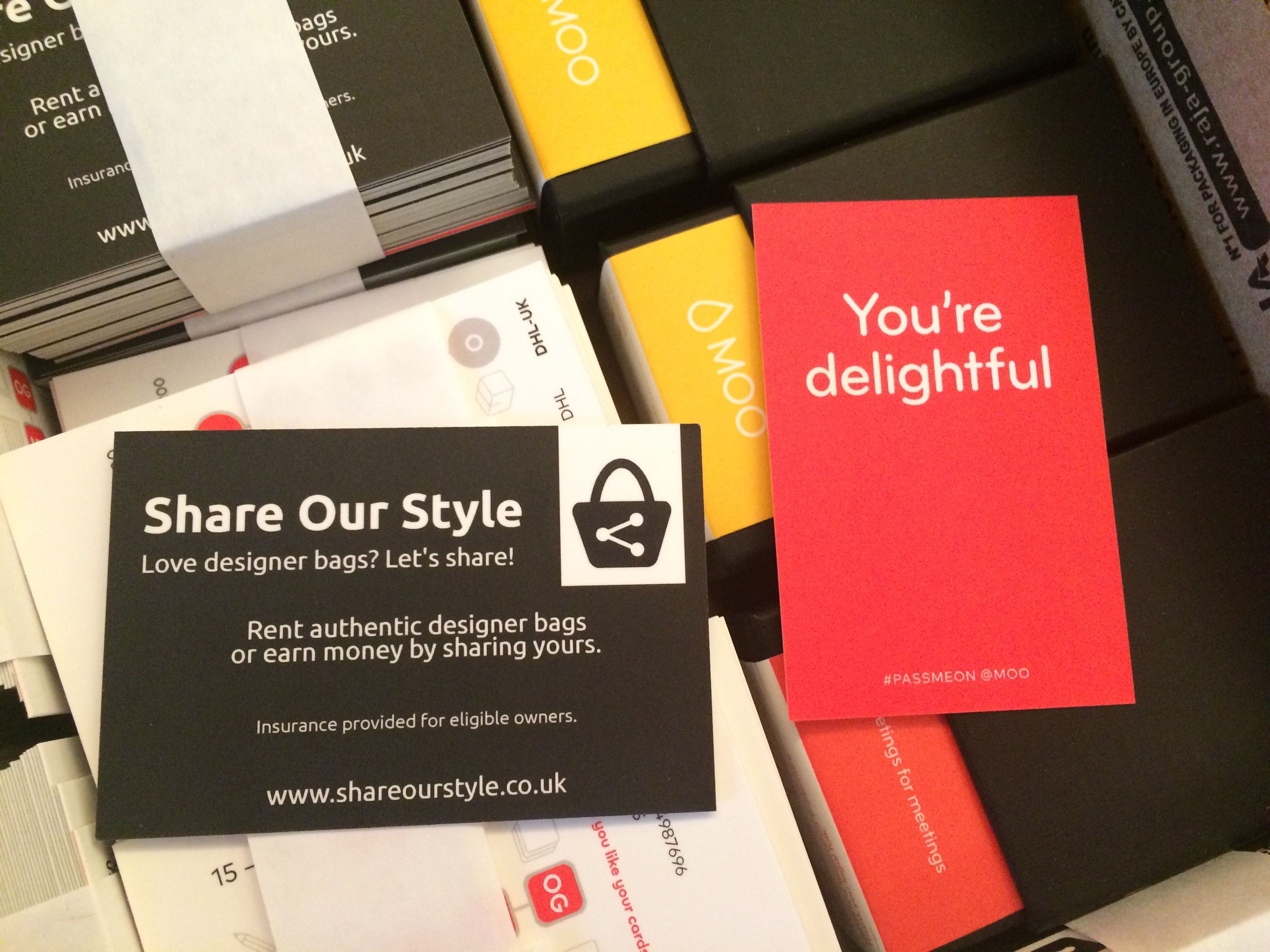 share our style business cards from moo