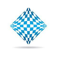 Abstract tech logo. Vector graphic design