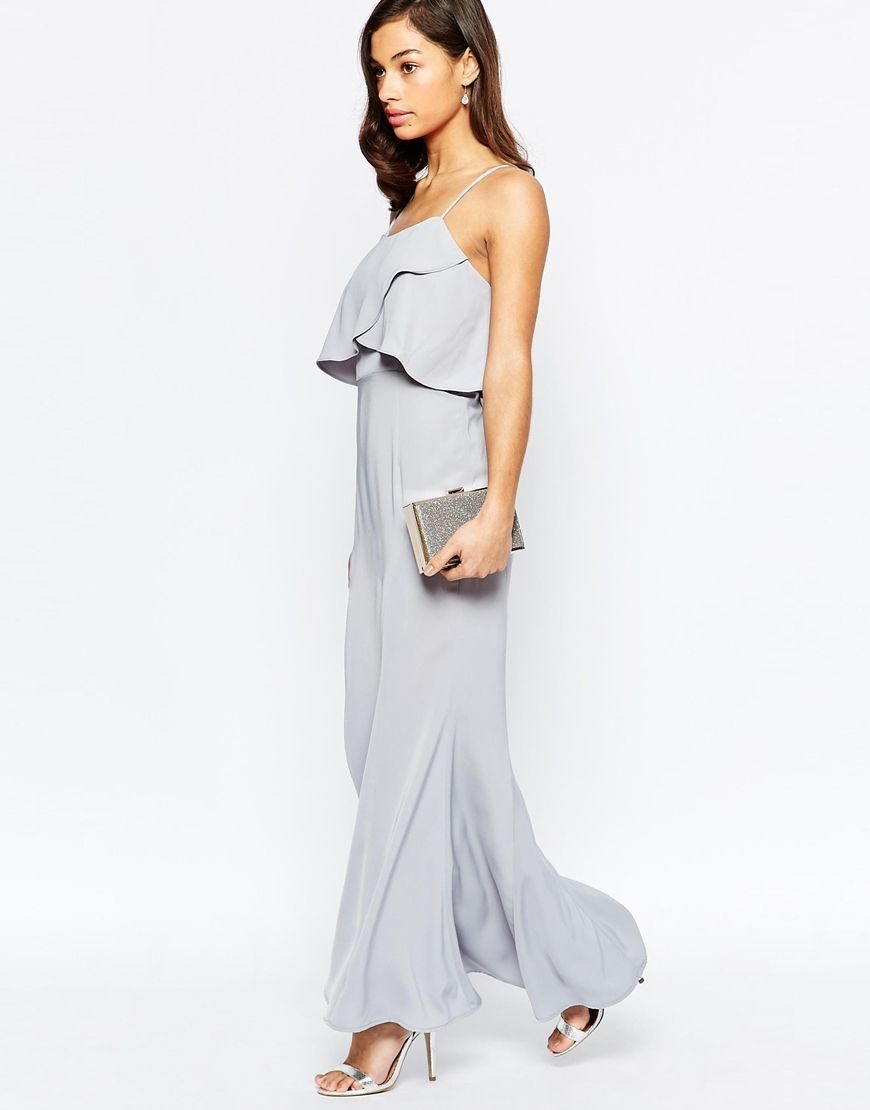 Long dress for wedding guest  Image  of Jarlo Petite Overlay Maxi Dress  Dresses for the Lades