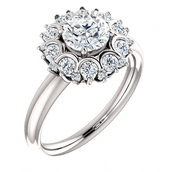Beautiful and Sparkling White Gold Wedding Ring -  The Wedding Ring, The Ultimate Symbol Of Love. Handcrafted For You