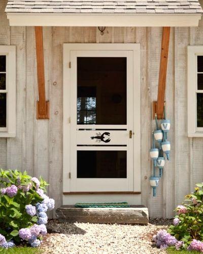 Mobile Home Cottage Door: DIY Decorative Flip Flop Shutters