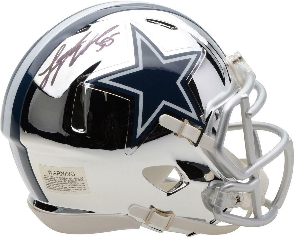 Autographed leighton vander esch cowboys mini helmet item