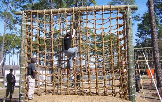 Rope Wall Bootcamp Pinterest Obstacle Course And Gym
