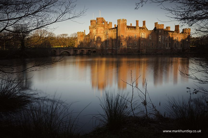 A winter morning's sunlight reflecting off #Herstmonceax #Castle, East Sussex, UK. Taken by Mark Huntley www.markhuntley.co.uk