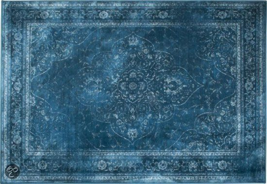 Zuiver Rugged Vloerkleed Turquoise 200x300cm Home