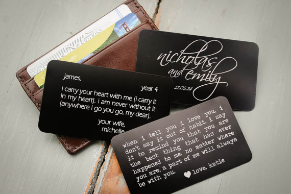 Engraved Color Photo Metal Wallet Insert personalized wallet card Laser engraved wallet card insert wallet insert metal wallet card