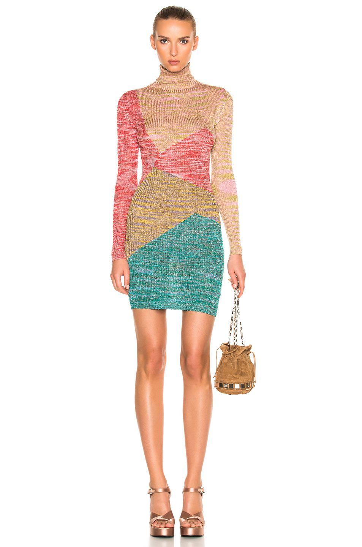 29c5c4b34e Missoni Rib Knit Long Sleeve Mini Dress