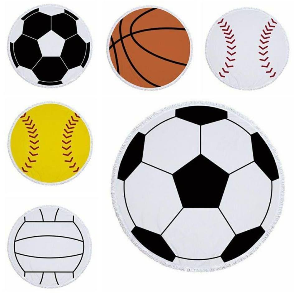 Preorder Baseball Volleyball Soccer Softball Basketball Circle Sports Towels Soccer Sport Towel Softball