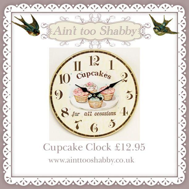 Shabby Chic Cupcake Clock #ainttooshabby
