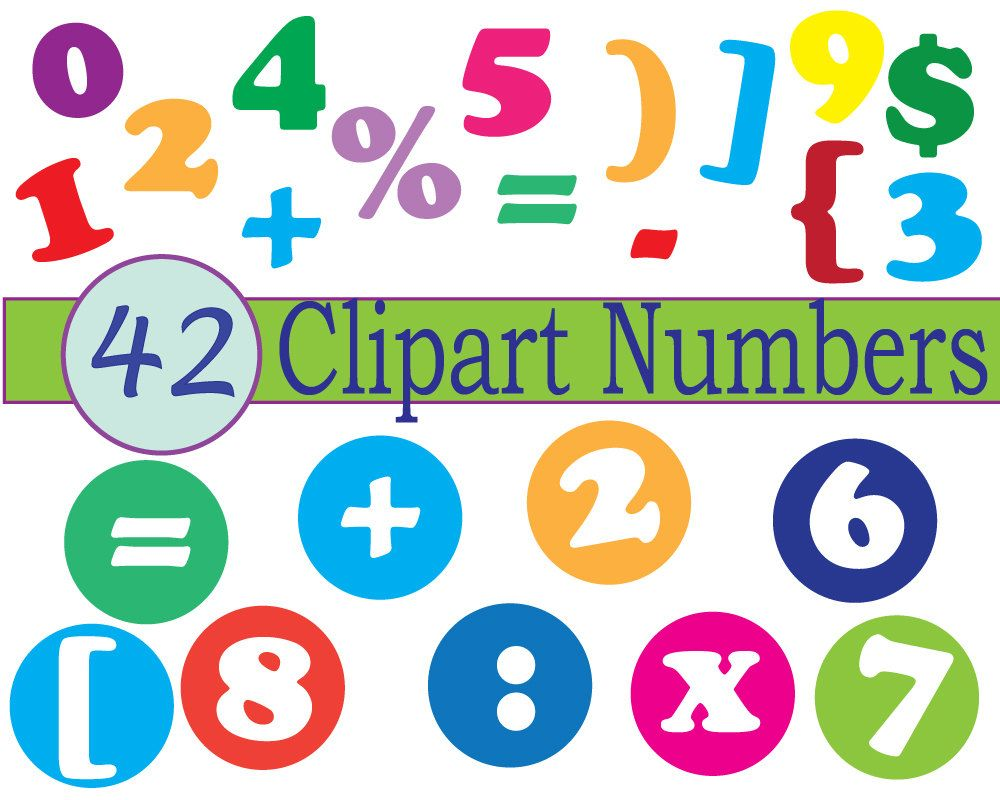 instant download numbers clip art scrapbooking numbers clip art rh pinterest co uk clip art of math centers clip art of mother and child