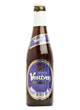 VESTFYEN JULEBRYG / Luksusøl – 5,7% vol  Vestfyen Julebryg er en sæsonøl i eksportklassen, med samme alkoholstyrke som Prins Kristian. Vestfyen Julebryg er en mørk øl med en god fylde; en behagelig bitterhed er bibeholdt og medvirker til en god smagsoplevelse.