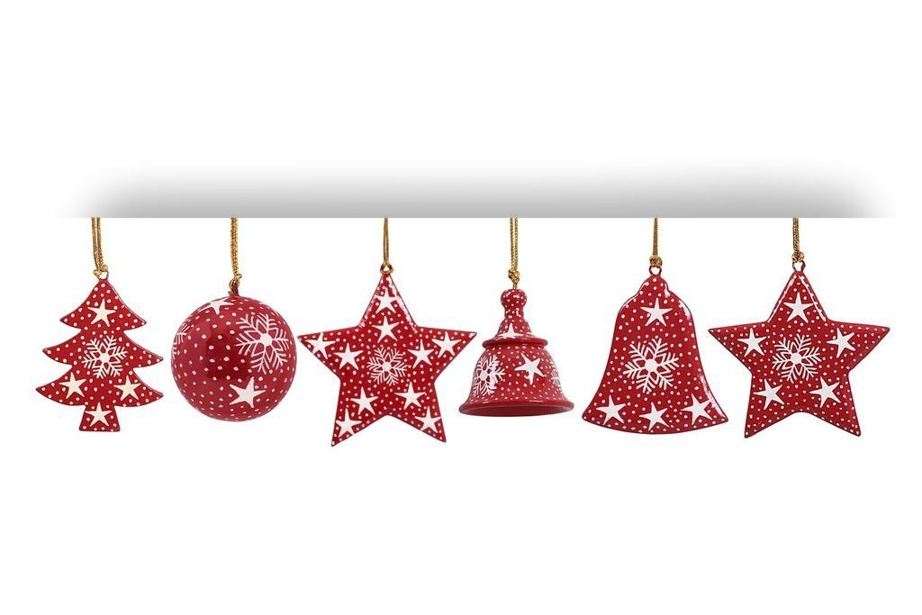 Buy Mehra Bros Paper Machie Christmas Festival Ornament Hanging Set Of 6 Combo 3 Online At Low Prices In India Amazon In Xmas Ornaments Ornaments Christmas