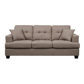 Sofa W/2 Pillows Brown