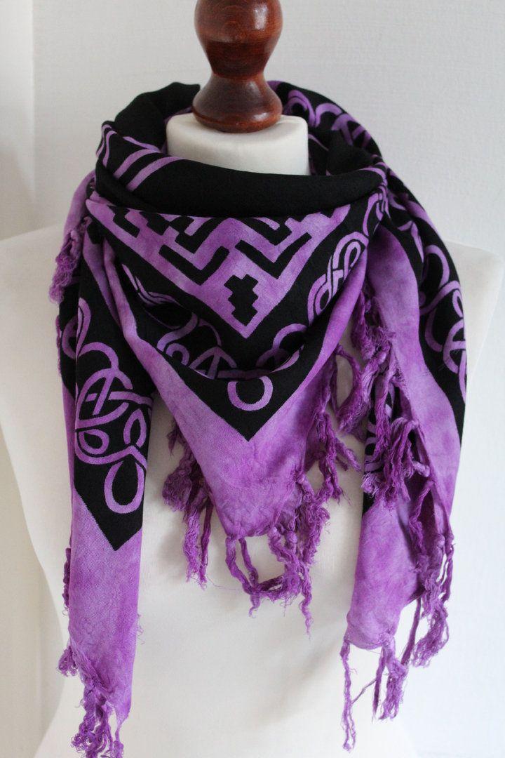 Pentagram Scarf or Altar Cloth - Lilac - chakrapatch fairtrade £6