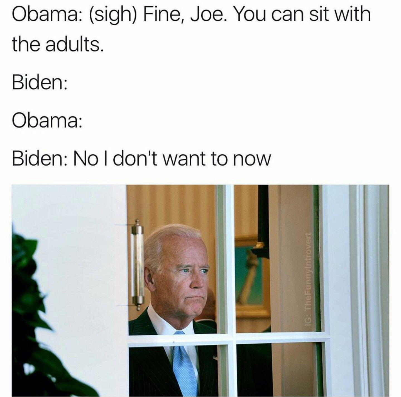 Biden memes Joe biden memes, Obama and biden, Humor