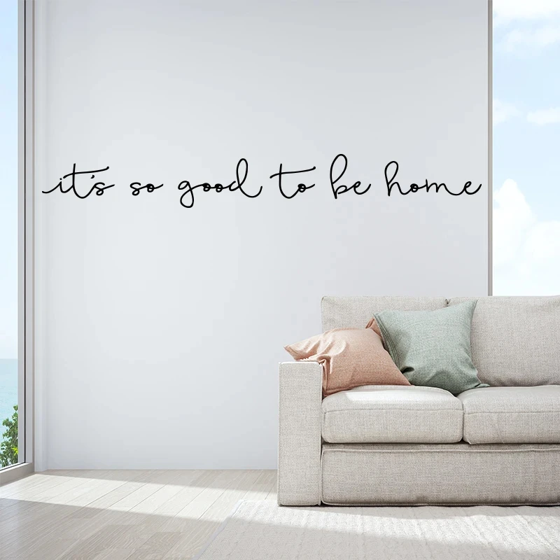 It S So Good To Be Home Quotation Wall Decal For Home Decoration Remov Nordicwallart Com In 2020 Wall Decals Living Room Wall Vinyl Decor Inspirational Wall Art