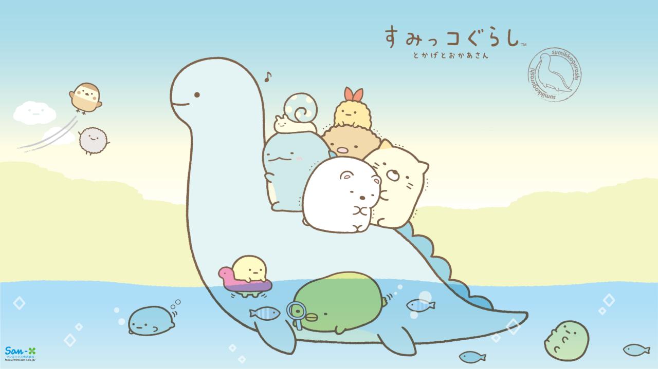 Character Design Wallpaper : Sumikko gurashi tokage desktop wallpaper