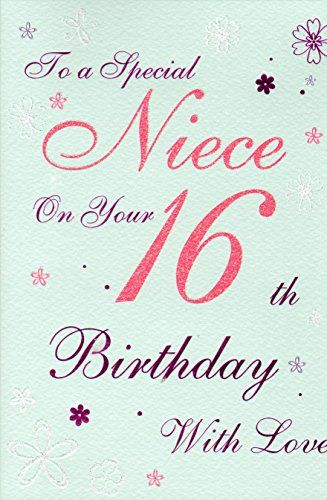 For a special niece 16 today birthday card 16th birthday pink for a special niece 16 today birthday card 16th birthday pink modern dress icg http bookmarktalkfo Gallery