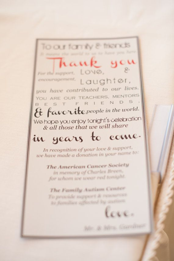thank you  donation favor card  cards favors thank you