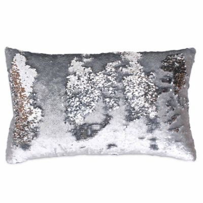 Thro By Marlo Lorenz Melody Mermaid Sequin Oblong Throw Pillow In Custom Silver Sequin Decorative Pillow