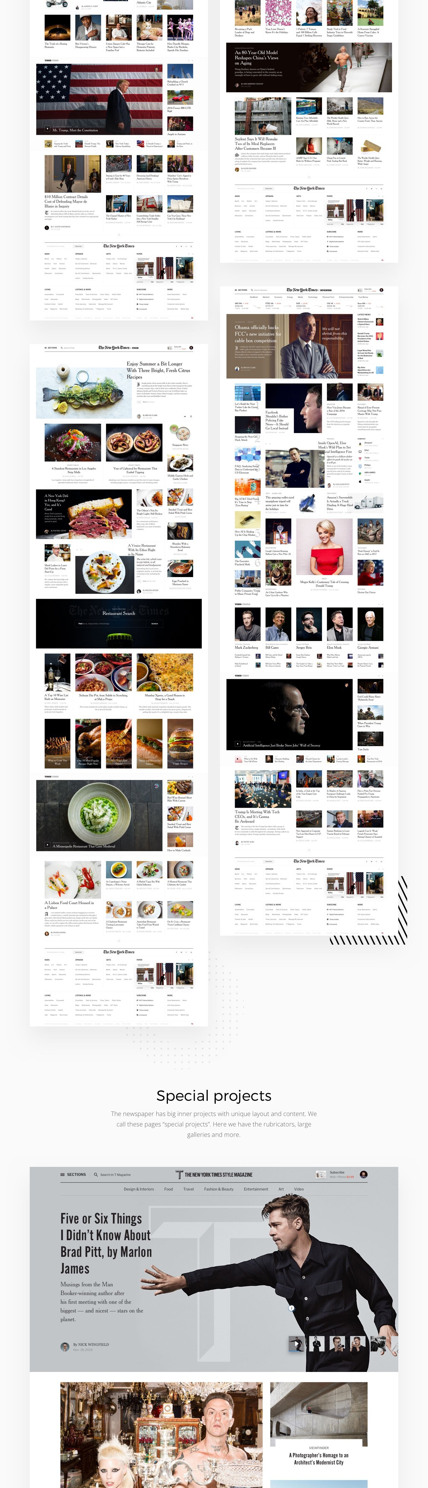 Editorial Design The New York Times Redesign Concept News Web Design Editorial Design Online Store Design