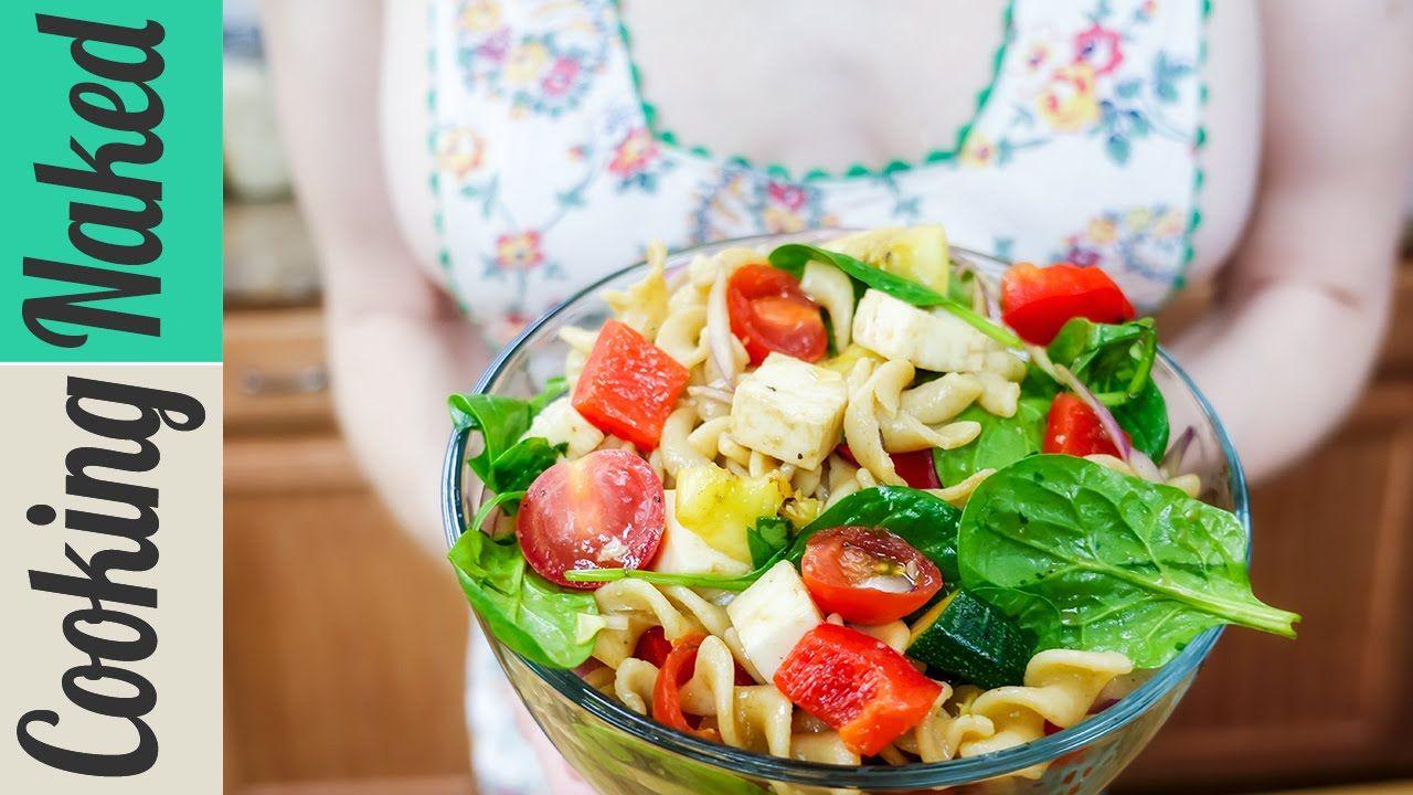 #Vegan #Pasta #Salad with Grilled Vegetables & Mozzarella #Recipe on #CookingNakedTV via #YouTube: https://youtu.be/HQA1-qrJqdI