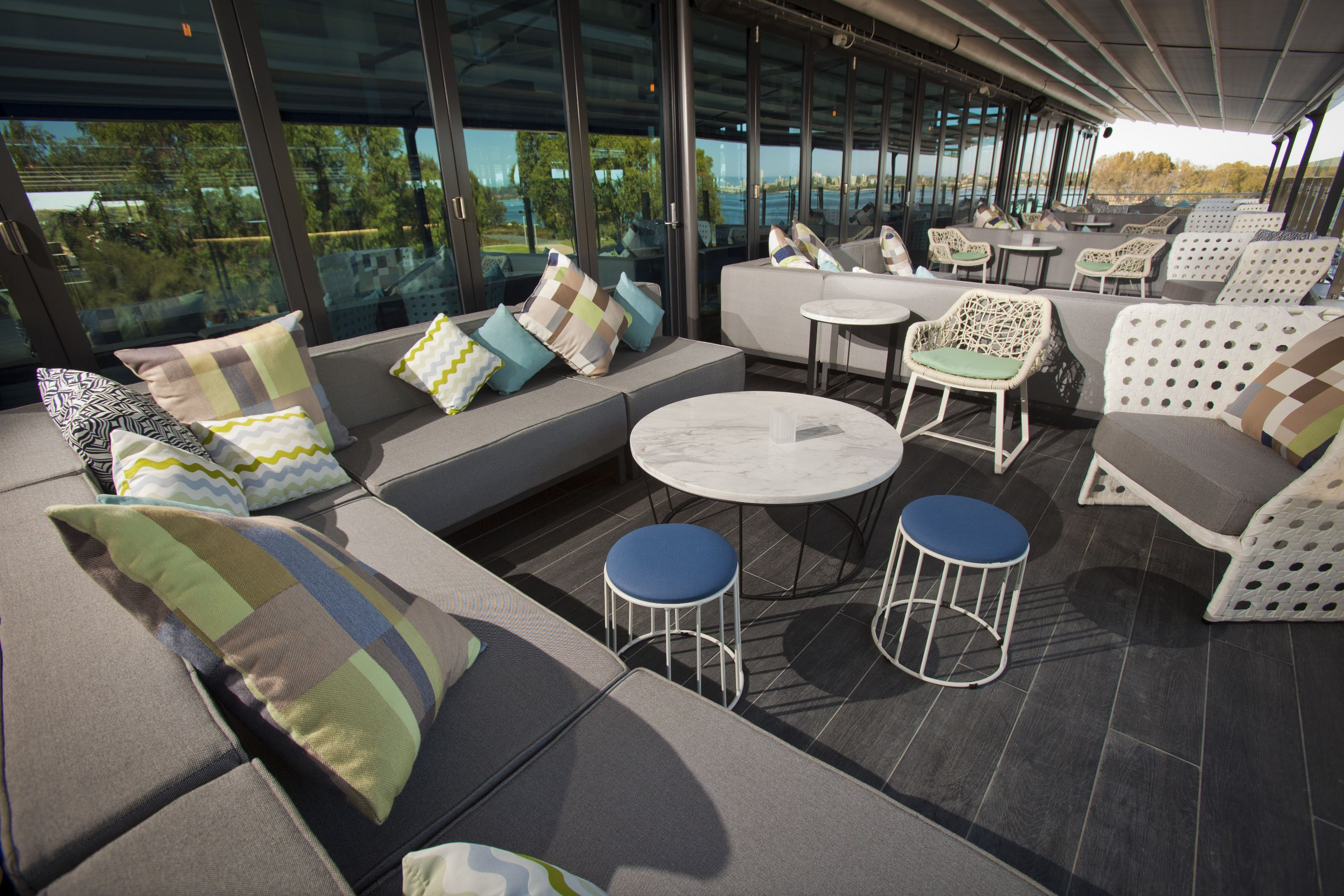 The Point Bar & Grill | Furniture Options. Modular lounge seating.