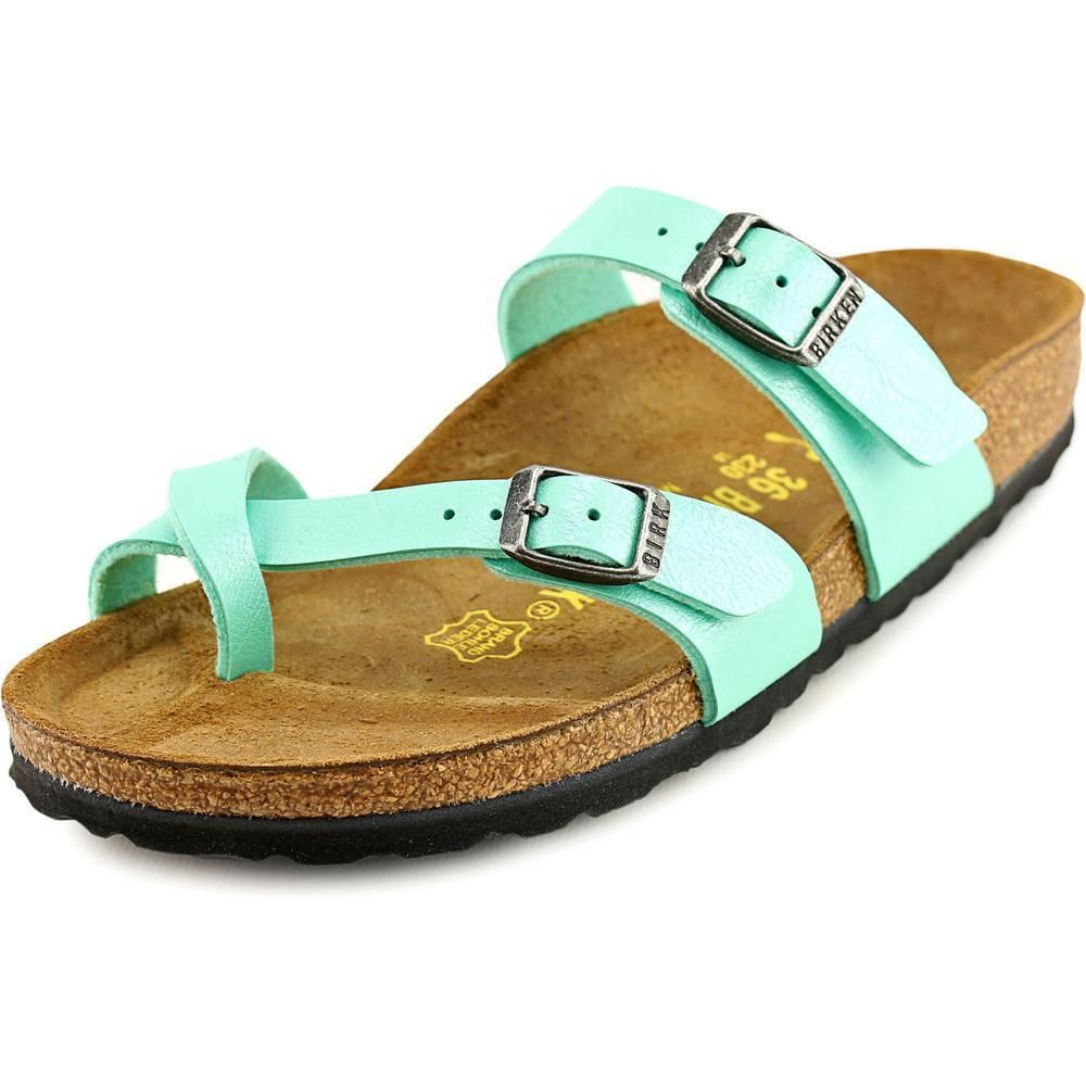 Lay back in sure comfort with the easy-going Birkenstock Mayari sandals.  These sandals