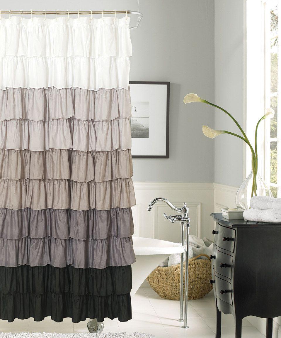 Another Great Find On Zulily Silver Black Flamenco Ruffle Shower Curtain By Zulilyfinds Rüschen Vorhänge Lustige Duschvorhänge Lila Badezimmer