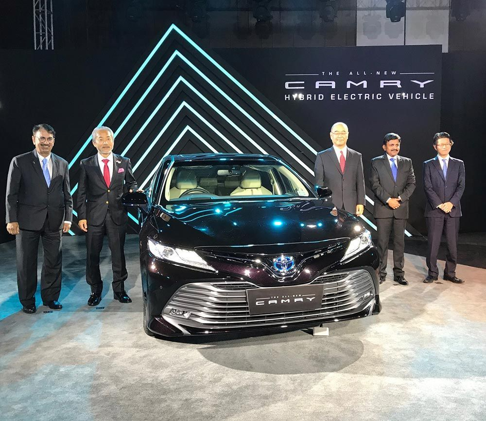 New Toyota Camry Hybrid Electric Launched in India at Rs