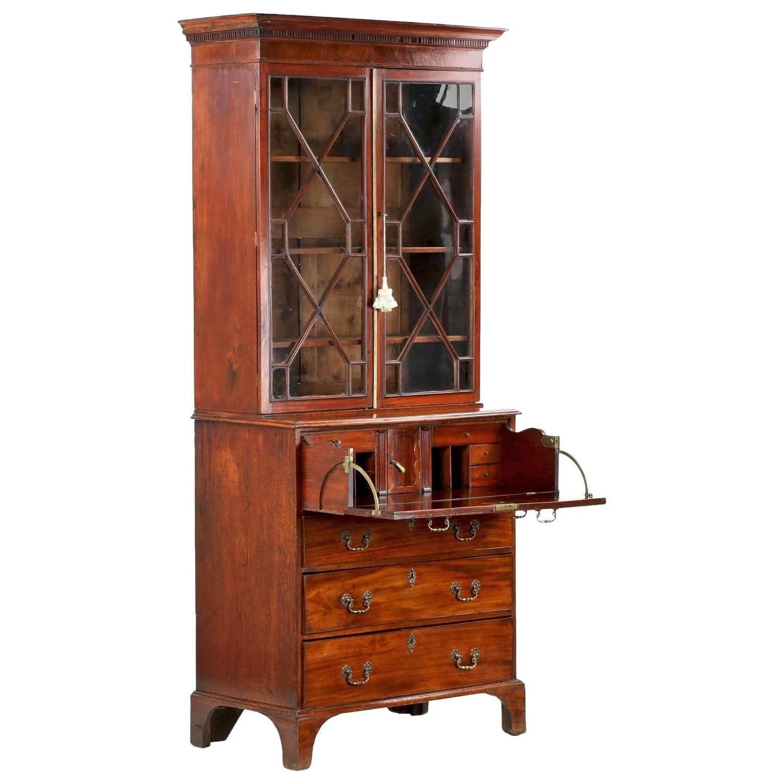 Diminutive English George III Mahogany Secretary Desk with Bookcase, circa  1780. Antique Secretary DesksAntique ... - Diminutive English George III Mahogany Secretary Desk With Bookcase