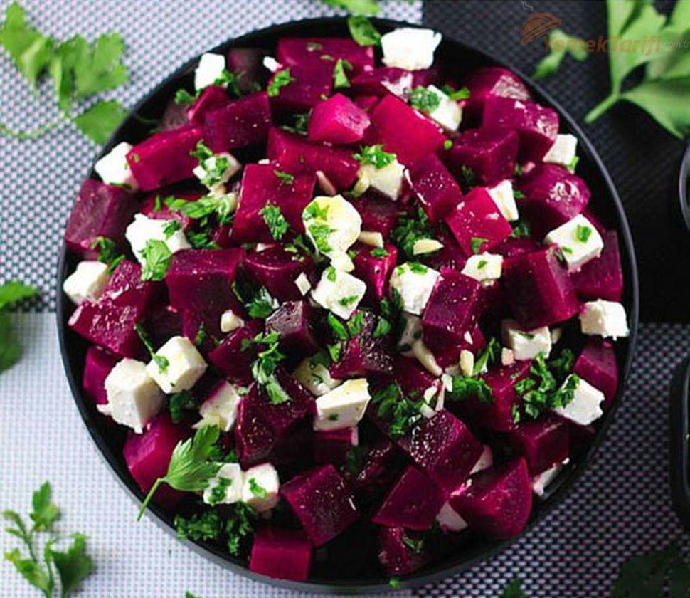 Peynirli Pancar Salatası Tarifi Yemektarifi Com Tr Pancar Salatası Pancar Salatası Tarifleri Pancar
