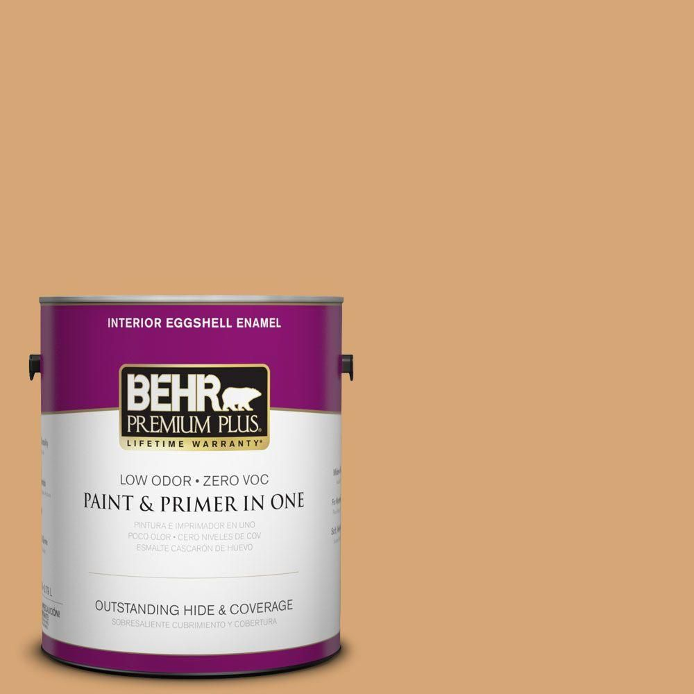 BEHR Premium Plus 1-gal. #M250-4 Cake Spice Eggshell Enamel Interior Paint