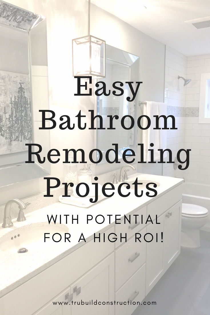 How To Increase Your Home S Value By Remodeling A Bathroom Trubuild Construction Bathrooms Remodel Home Improvement Loans Home Improvement Projects