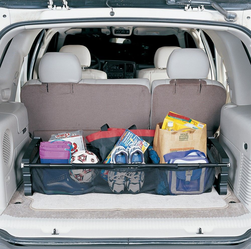 Hopkins Collapsible Vehicle Trunk Cargo Organizer with Mesh Bins Hopkins Vehicle Organizer ...