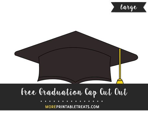 photograph relating to Printable Graduation Cap identified as Totally free Commencement Cap Slash Out - Hefty merely random things