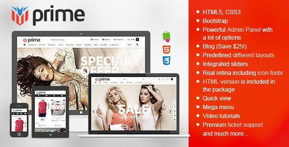 Prime - Responsive Prestashop Theme   Website-Templates