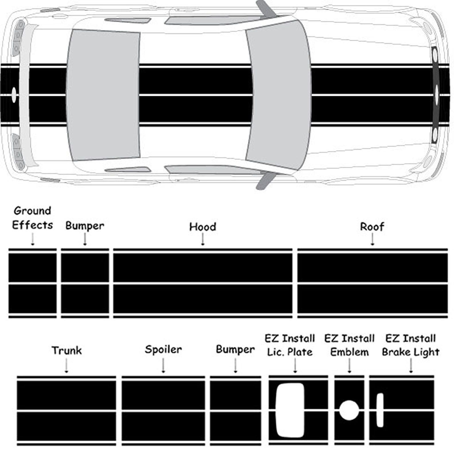 Dual Racing Stripes 10 Vinyl Decal Sticker Auto Rally Mustang Dodge All Autos Ebay Racing Stripes Rally Racing Car Stripes