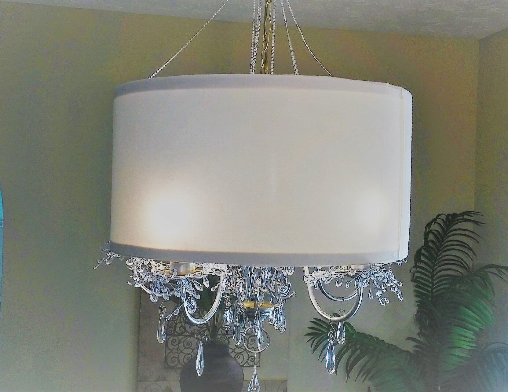 DIY Drum Lamp Shade/Chandelier. (With images)   Chandelier ...