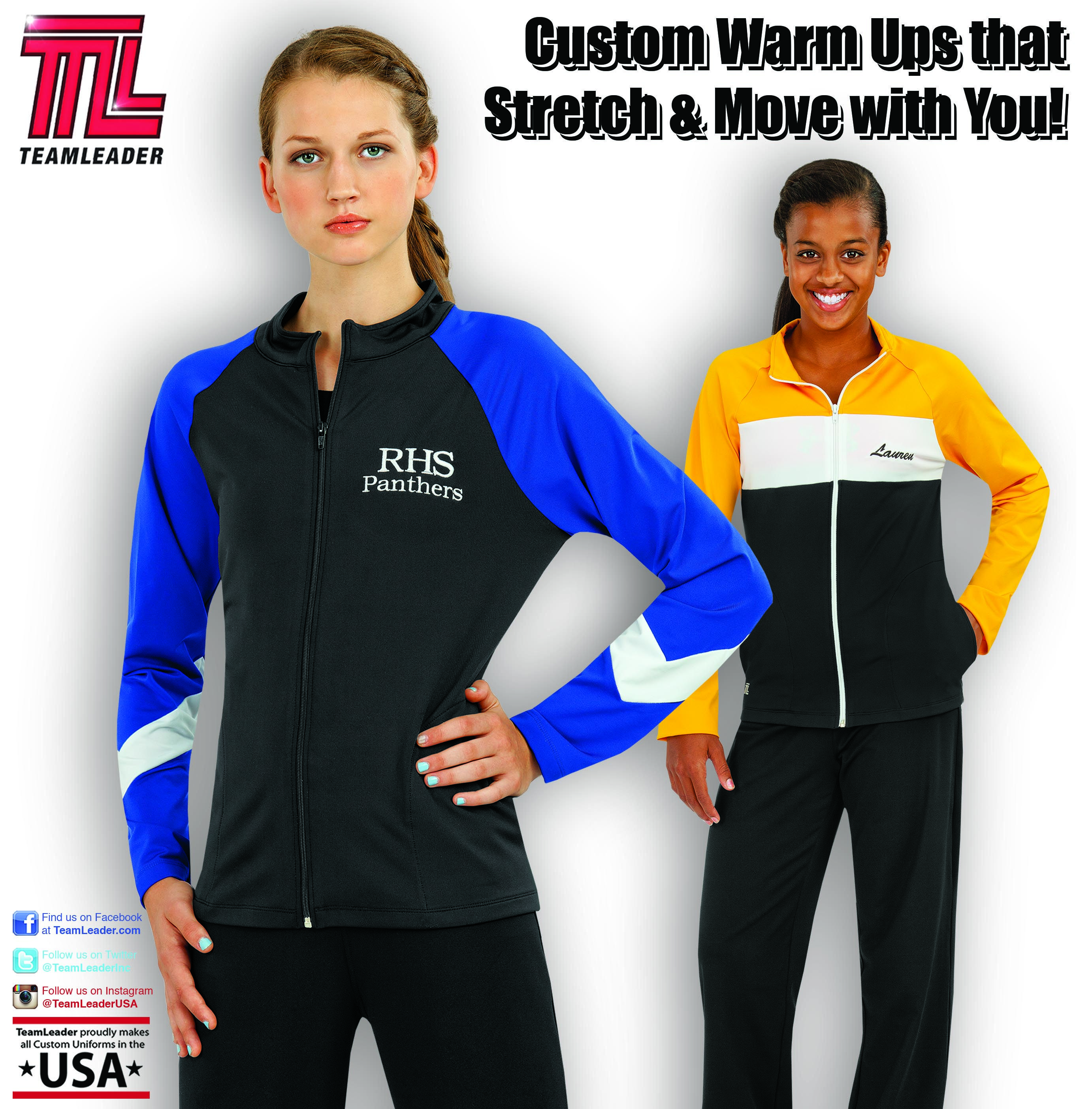 Custom Warmups That Are Designed To Stretch And Move With You Volleyball Uniforms Athletic Jacket Athletic
