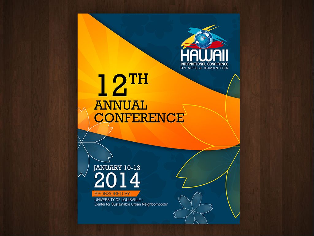 Create conference program cover design for us! Postcard