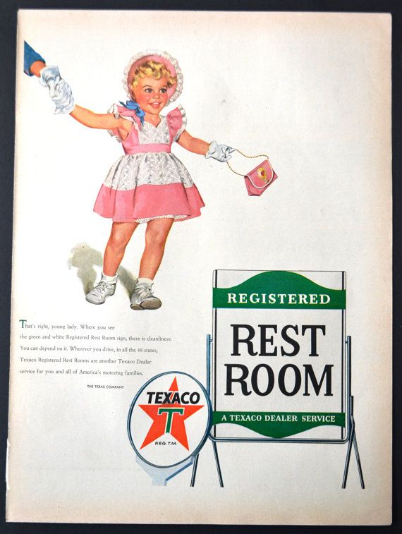 Image result for texaco bathroom ad