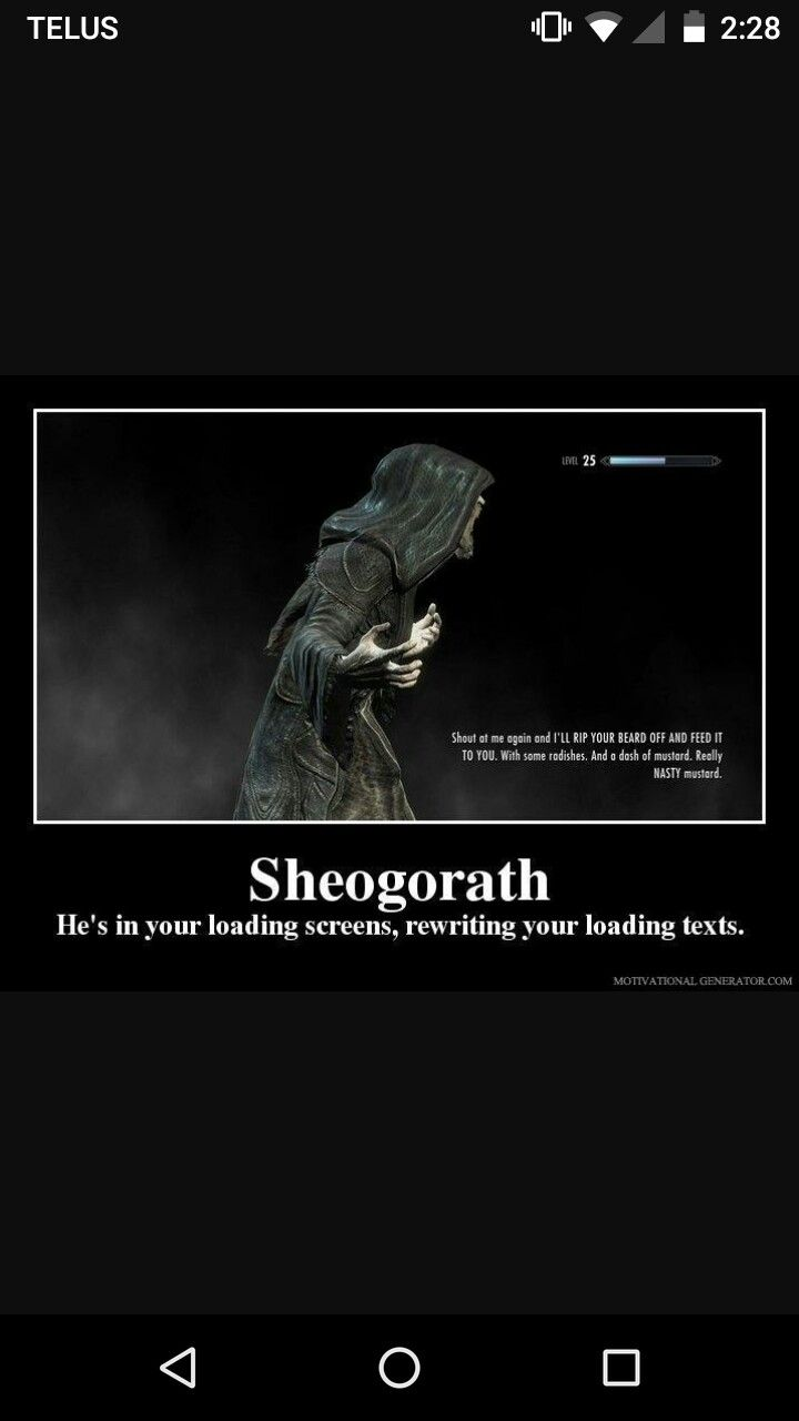 Sheogorath is my fav Daedric prince of all time  Hircine and