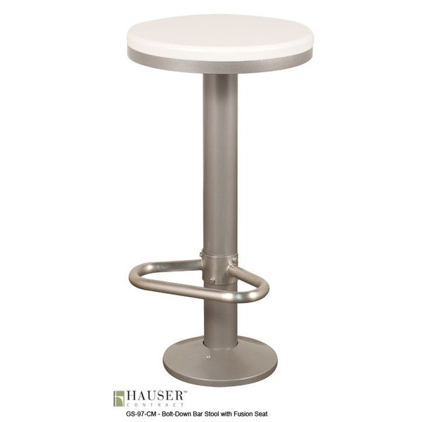 Bolt Down Barstool With Fusion Seat Bar Stools Stool Outdoor