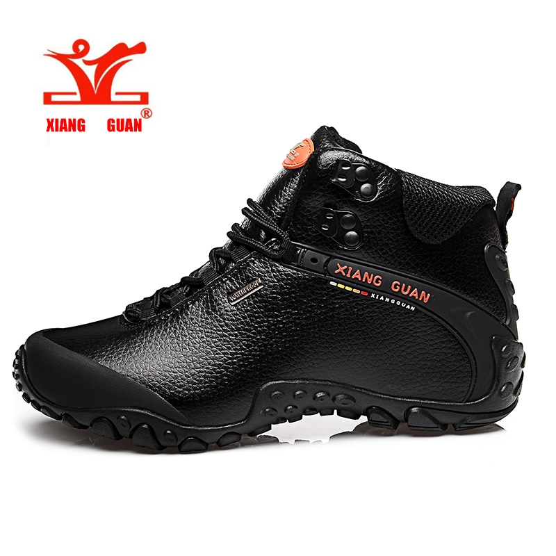 (53.61$)  Buy here - http://aiiwr.worlditems.win/all/product.php?id=32797248633 - XIANG GUAN Hiking Shoes Men Outdoor Sneaker Climbing Genuine Leather Mountain bota masculina Sports Trekking Shoes Boots 81998
