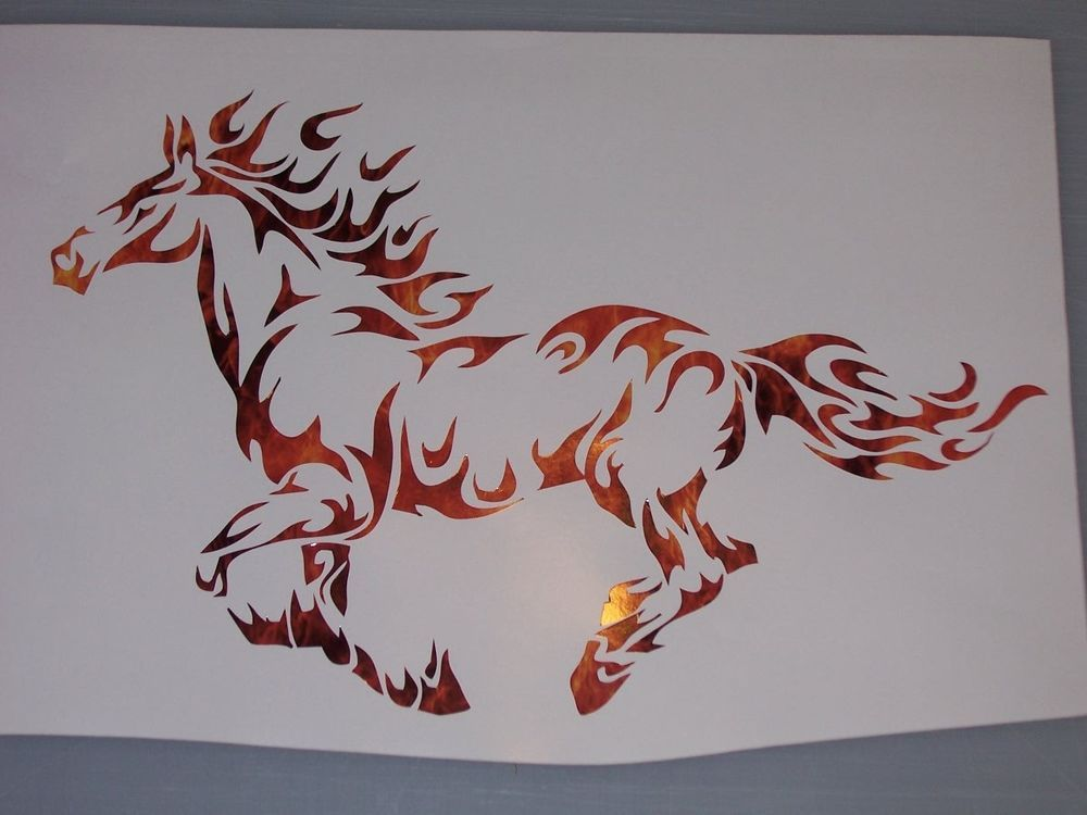 Mustang Tribal Flame Horse pony Window Decal Decals Trailer Sticker Graphics | eBay Motors, Parts & Accessories, Car & Truck Parts | eBay!