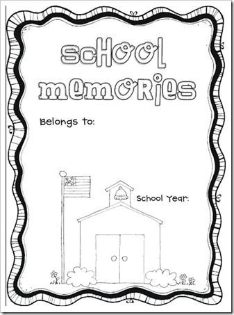 End of the year memory book. Free! Has 20 pages the kids