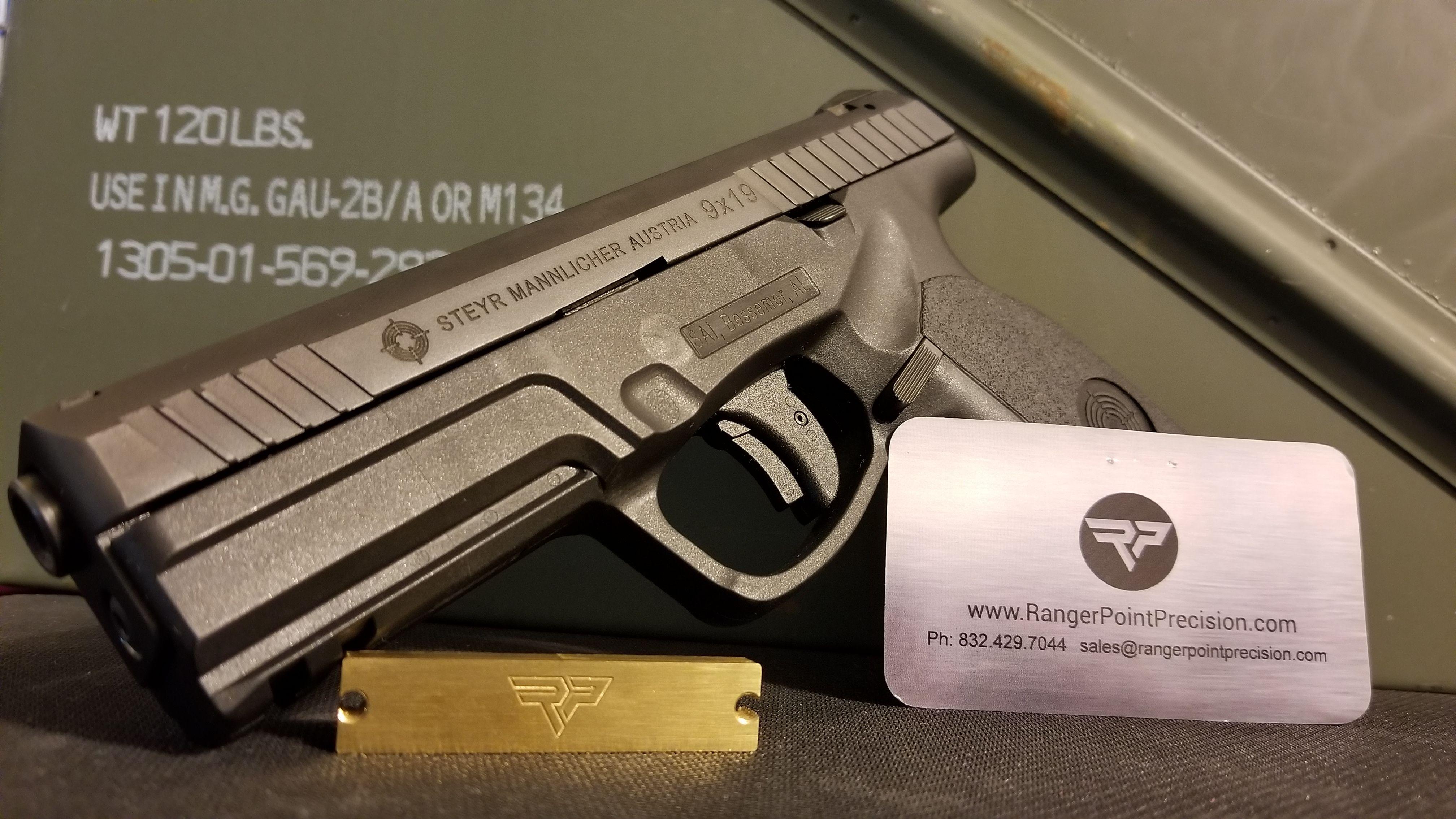 Steyr Pistols Brass Weights to Reduce Muzzle Flip