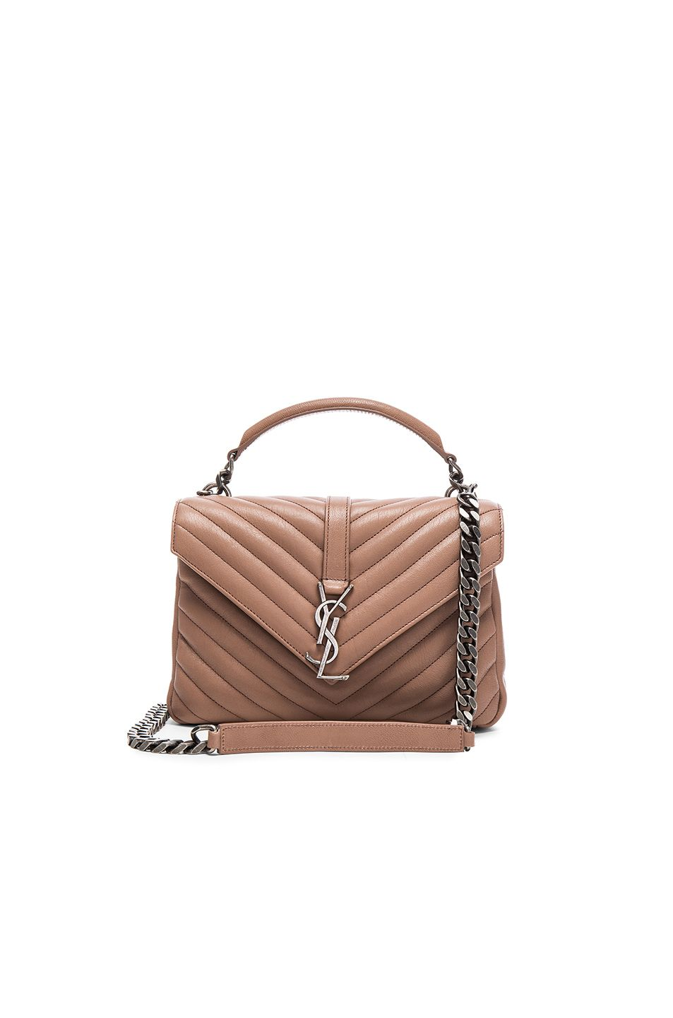 Image 1 of Saint Laurent Medium Monogram College Bag in Fard  637d3378d5bb7
