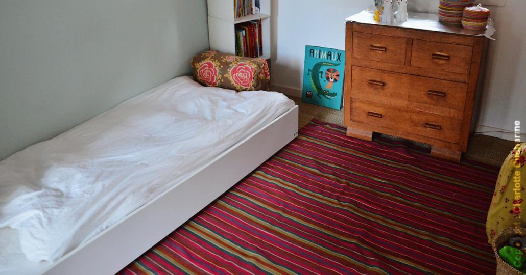 lit montessori dans une chambre d'enfant  lit montessori